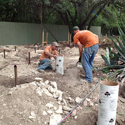 new construction pier installation contractor in Austin, TX